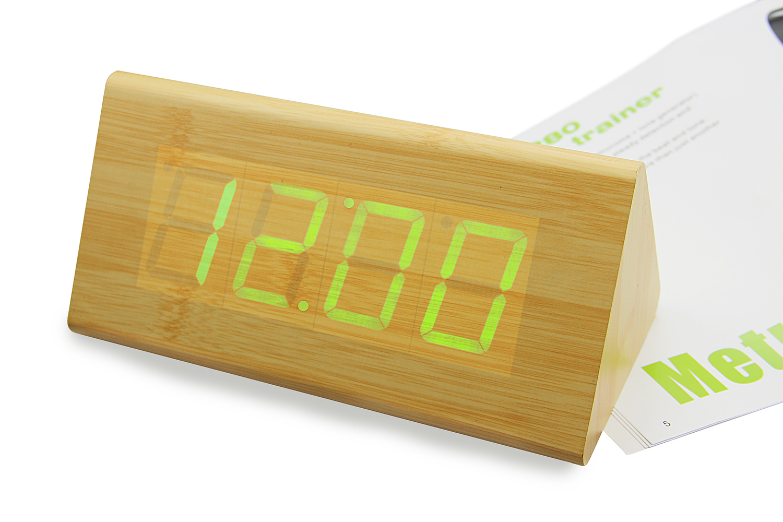 现代led创意木头钟